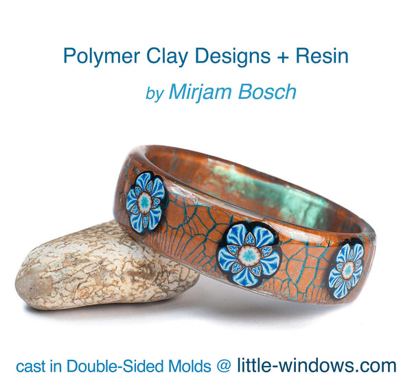 resin casting polymer clay bangle bracelet mirjam