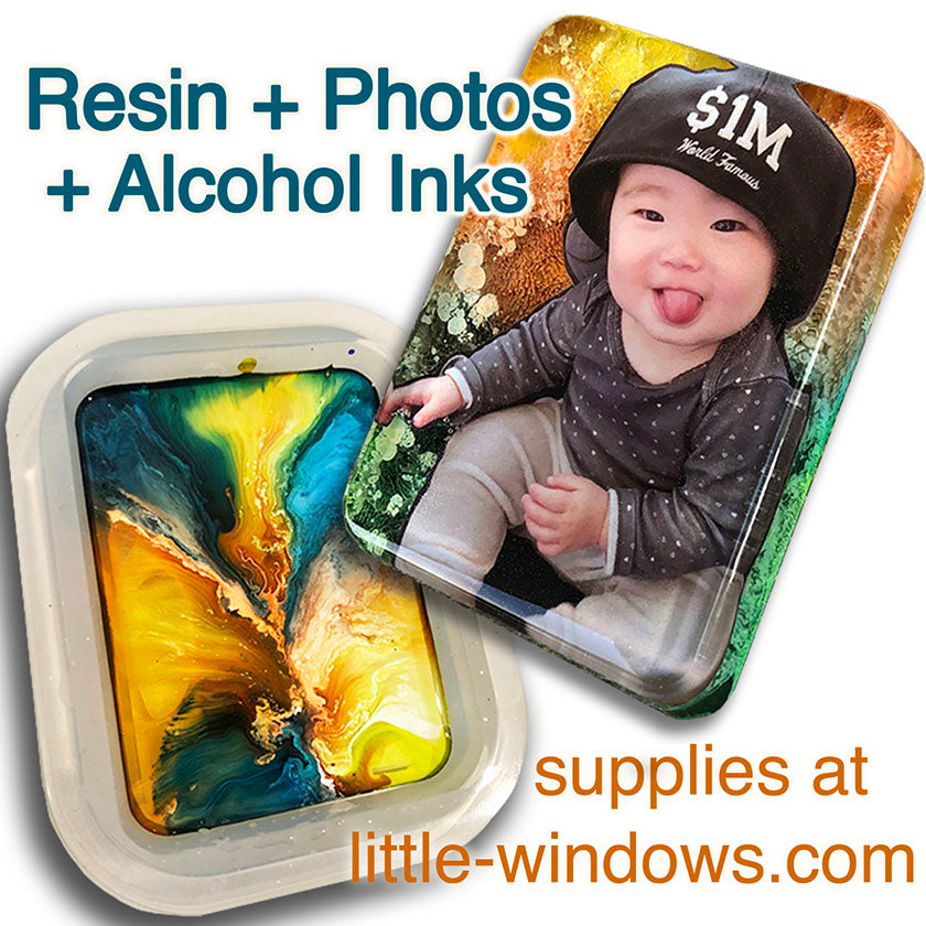 resin casting crafting alcohol inks photo keepsakes ornaments