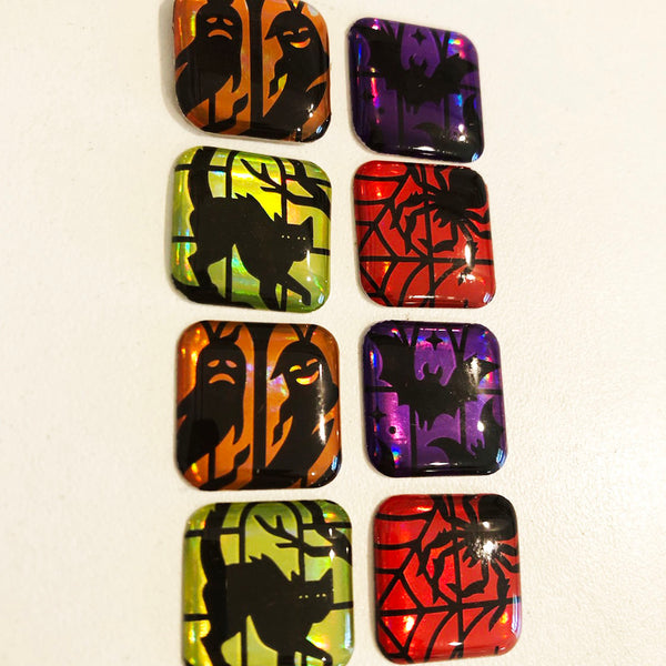 resin jewelry making postage stamps halloween buttons