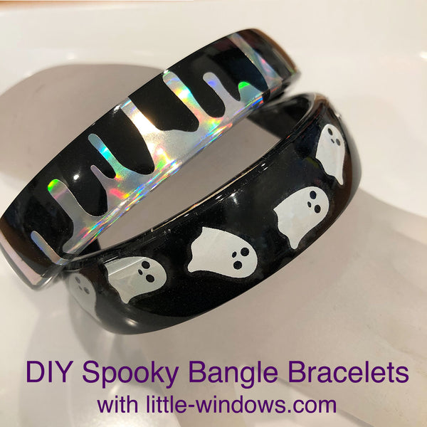 resin jewelry making casting bangle bracelets holographic stickers