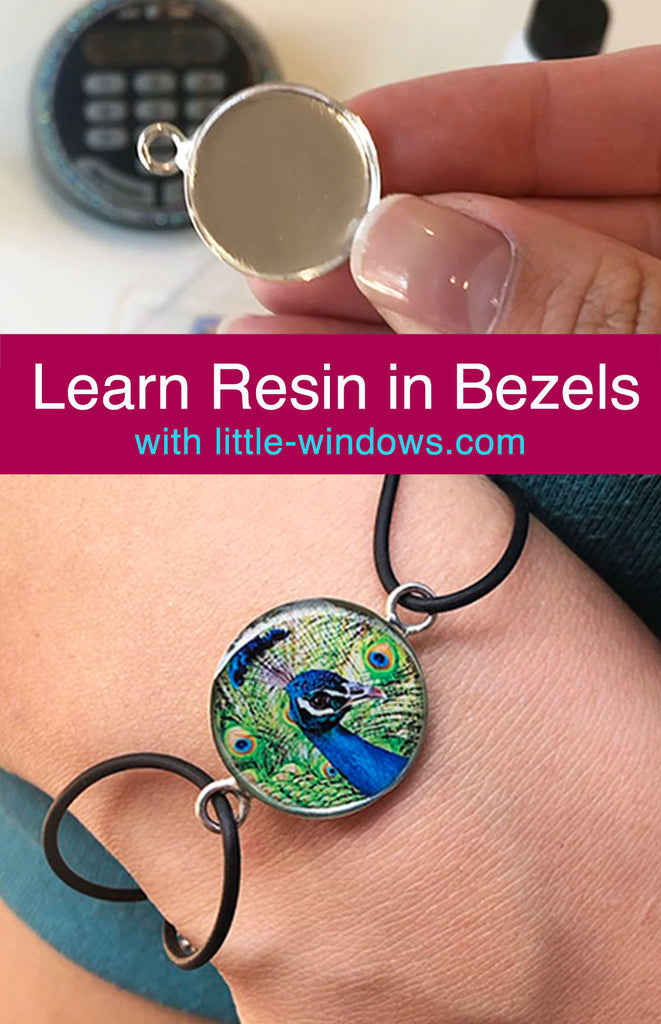Resin Jewelry Making metal bezels necklace bracelet epoxy photo jewelry tutorial