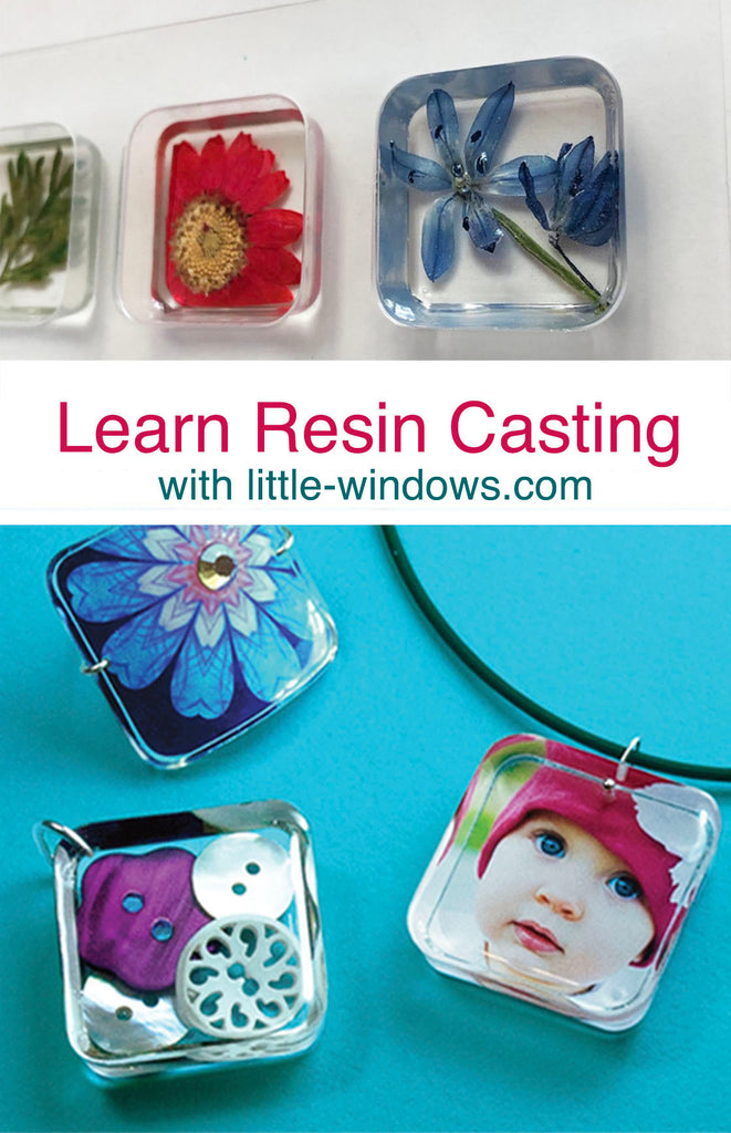 Resin Jewelry Making casting epoxy photo jewelry tutorial