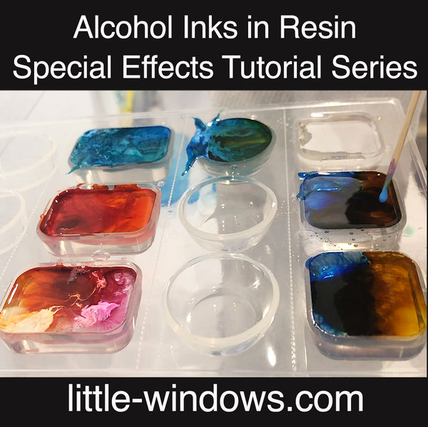 resin casting alcohol inks photo keepsakes tutorial