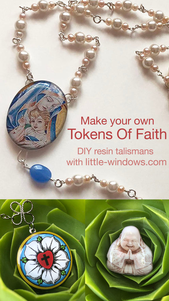 resin jewelry token faith talisman jewelry making wire wrap