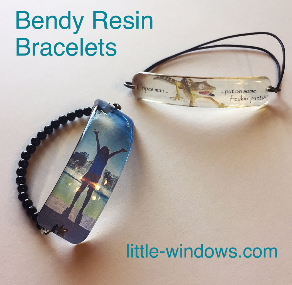 resin doming bendy bracelets jewelry making