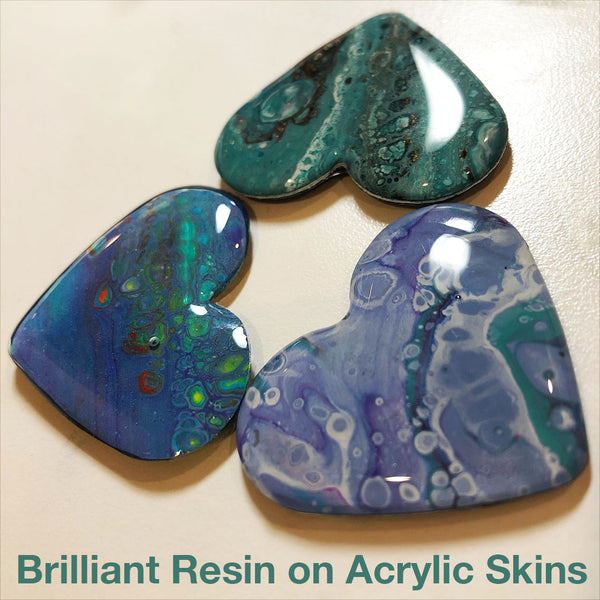 resin acrylic paint pour jewelry