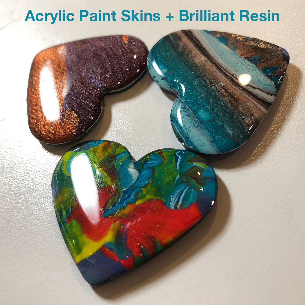 resin acrylic paint pour jewelry making
