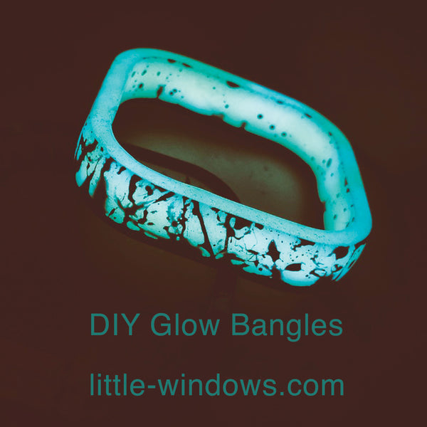 resin casting bangle bracelet mold glow in the dark