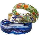 resin casting bangle bracelet mold fabric dried flowers yarn jewelry making