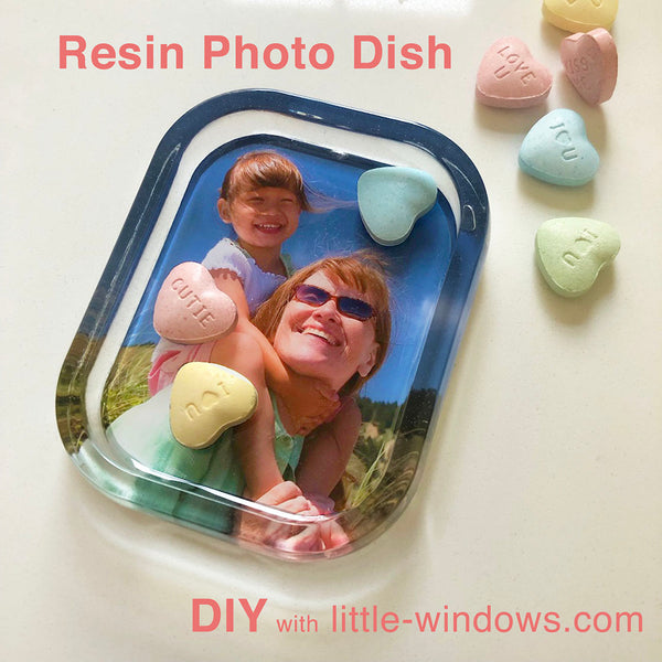 resin casting trinket dish photo keepsake mold