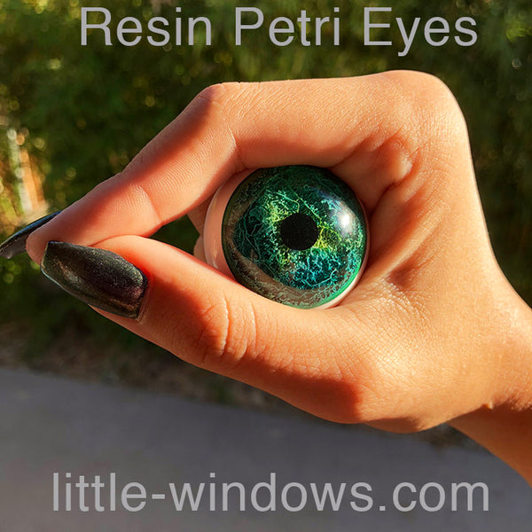 resin casting eyes petri alcohol inks