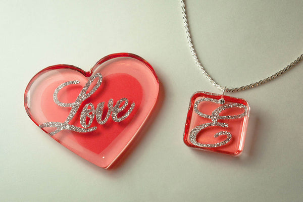 resin crafting cast heart jewelry stickers color