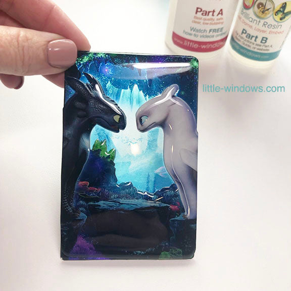 resin layering projects doming dragons nightlight