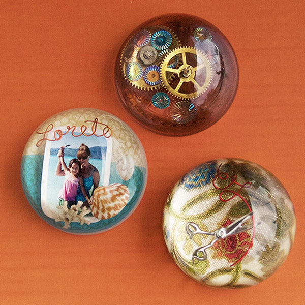 resin fabric cabochon button jewelry