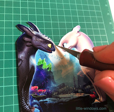 resin layering projects doming dragons nightlight Xacto