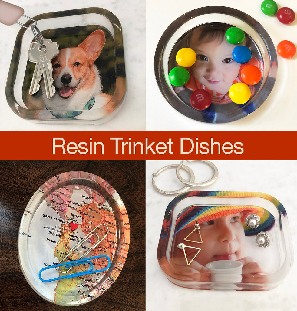 resin tutorial trinket dishes