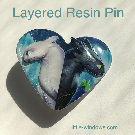 resin layering projects doming dragons pin