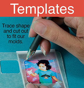 templates to crop for resin molds