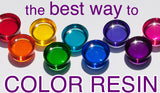 clean, easy resin color for jewelry and craft projects by little-windows.com