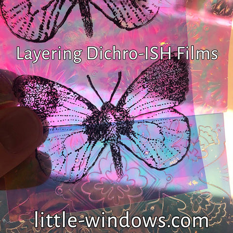 resin jewelry butterfly dichroish 3D layering films
