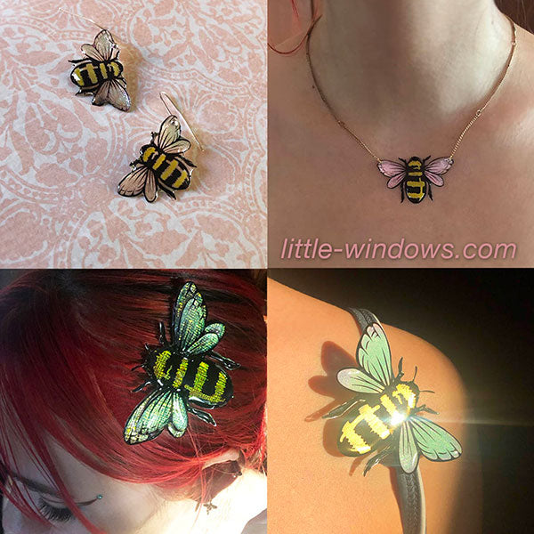resin jewelry making bumble bee jewelry earrings necklace
