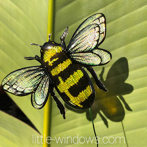 resin jewelry making domed bumble bee texture film plant stake