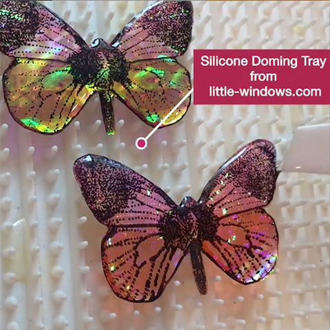 resin jewelry making dichro butterfly silicone doming tray