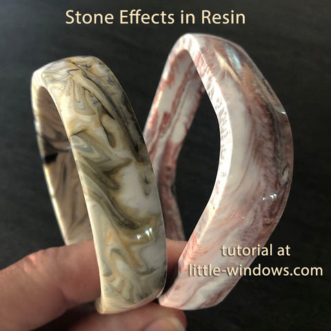 resin jewelry making dirty pour stone effects marble jasper cast bangle bracelets