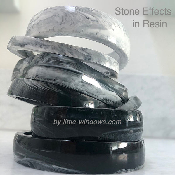 resin jewelry making dirty pour marble bangle bracelets stone effects