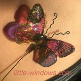 resin butterfly jewelry stamped dichro films 3d