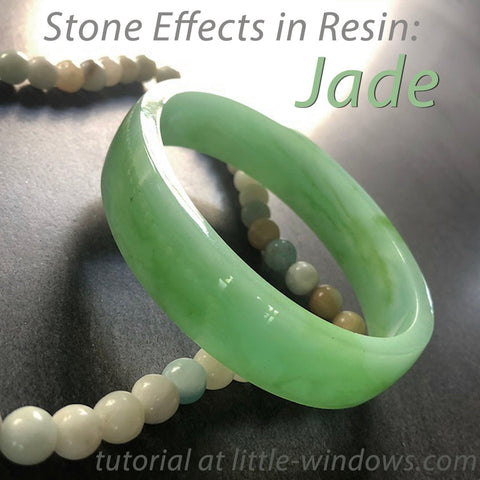 resin jewelry making dirty pour stone effects jade cast bangle bracelets