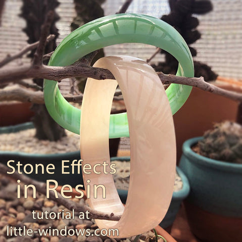resin jewelry making dirty pour stone effects jade rose quartz cast bangle bracelets