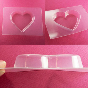 Hearts Mold Set with Cropping Template (stencil)