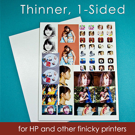 "Thinner Special Photo Paper 8-1/2x11""  (for HP and other U-shaped feeding printers)"