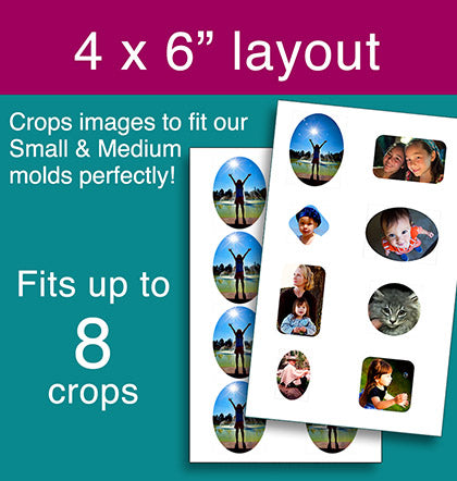 photo cropping software fits resin molds 4x6