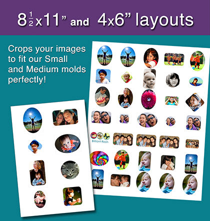 photo cropping software fits resin molds 4x6 8-1/2x11