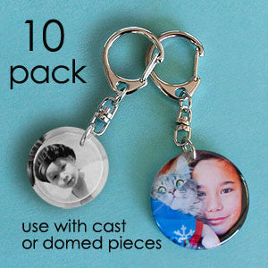 Swivel keychain finding - 10 pack