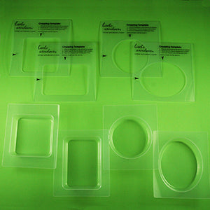 Large Resin Mold Set with cropping templates (stencils)