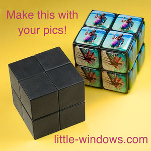 rubik's photo cube make your own using photos and brilliant resin great gift game