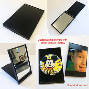 Flip Mirror - Personalize with Resin-Domed Photos!