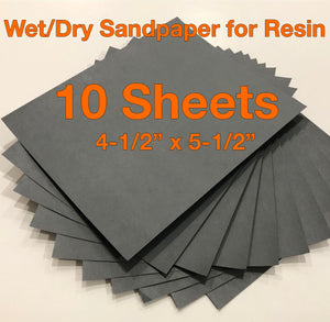 Sandpaper for Resin - 10-pack Wet/Dry