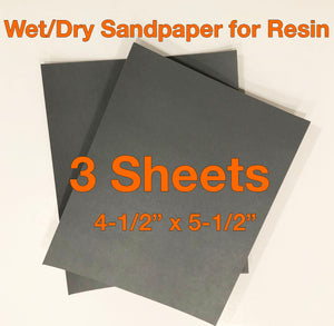 Sandpaper for Resin - 3-pack Wet/Dry