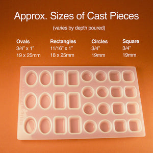 Small Silicone Resin Mold Set   with cropping template