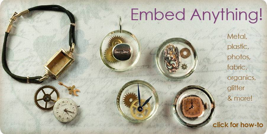 resin cast jewelry watch parts steampunk