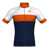 Fash short sleeve Jersey - Navy Blue/Orange/White
