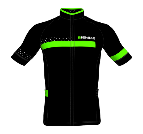 Polka short sleeve jersey - Black/Acid Green