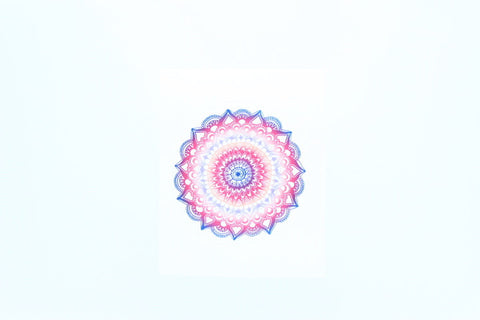 Mandala - Rose and Blue