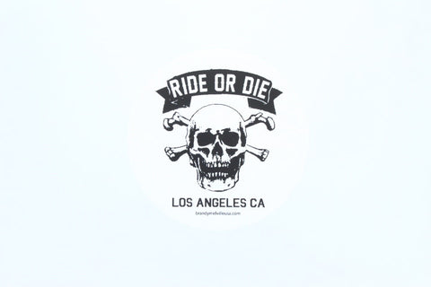 Brandy Melville Ride or Die - white