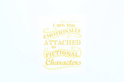 Attached to Fictional Characters
