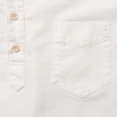 Brushed White Oxford Popover